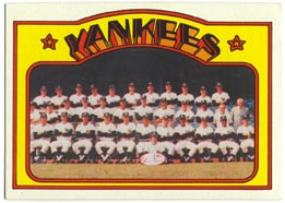 1972 Topps Baseball Cards      237     New York Yankees TC